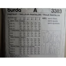 Burda Sewing Pattern 3383