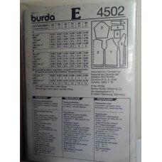 Burda Sewing Pattern 4502