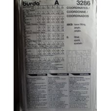BURDA Sewing Pattern 3286
