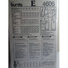BURDA Sewing Pattern 4606