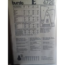 Burda Sewing Pattern 4726