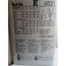 BURDA Sewing Pattern 4831