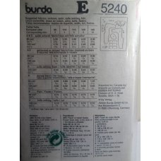 BURDA Sewing Pattern 5240