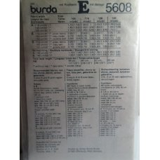BURDA Sewing Pattern 5608