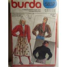 BURDA Sewing Pattern 5837