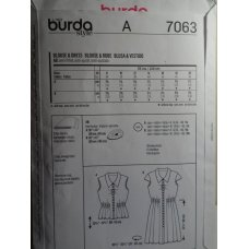 BURDA Sewing Pattern 7063