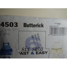 Butterick Sewing Pattern 4503