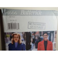 Butterick Sewing Pattern 4666