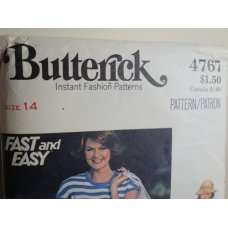Butterick Sewing Pattern 4767