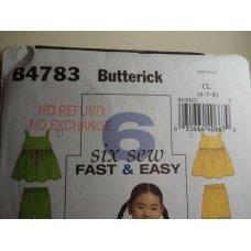 Butterick Sewing Pattern 4783