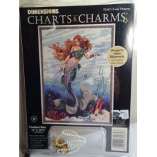 Dimensions Chart and Charms Cross Stitch Ocean Princess