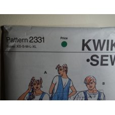KWIK SEW Sewing Pattern 2331