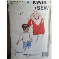 KWIK SEW Sewing Pattern 1362