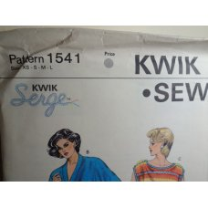 KWIK SEW Sewing Pattern 1541