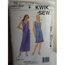 KWIK SEW Sewing Pattern 2942