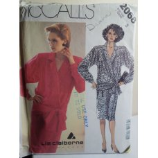 McCalls Liz Claiborne Sewing Pattern 2068