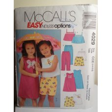 McCalls Sewing Pattern 4029