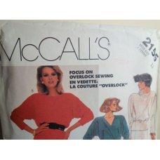 McCalls Sewing Pattern 2155