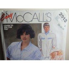 McCalls Sewing Pattern 2912