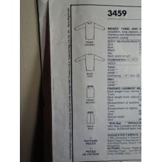 McCalls Sewing Pattern 3459