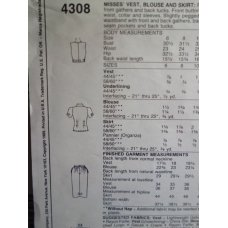 McCalls Sewing Pattern 4308