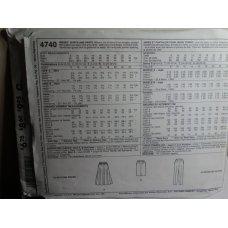 McCalls Sewing Pattern 4740