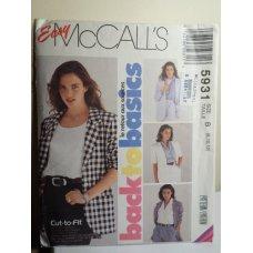 McCalls Sewing Pattern 5931