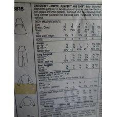 McCalls Sewing Pattern 6815