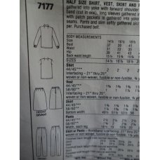McCalls Sewing Pattern 7177