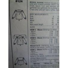 McCalls Sewing Pattern 8124