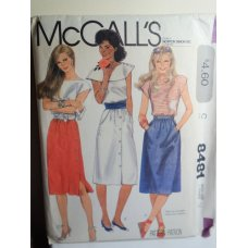 McCalls Sewing Pattern 8481