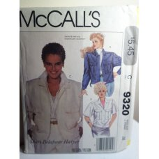 McCalls Sewing Pattern 9320