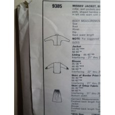 McCalls Sewing Pattern 9385