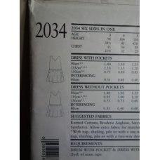 NEW LOOK Sewing Pattern 2034