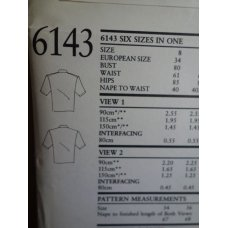 NEW LOOK Sewing Pattern 6143