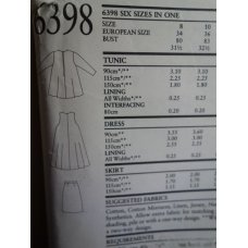 NEW LOOK Sewing Pattern 6398
