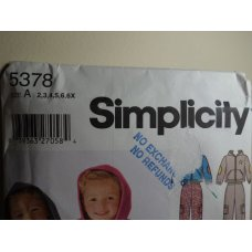 Simplicity Sewing Pattern 5378