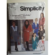 Simplicity Sewing Pattern 7438