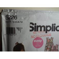 Simplicity Sewing Pattern 5226