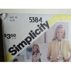 Simplicity Sewing Pattern 5384