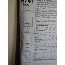Simplicity Sewing Pattern 9741