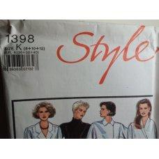 Style Sewing Pattern 1398