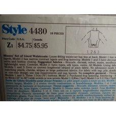 Style Sewing Pattern 4480