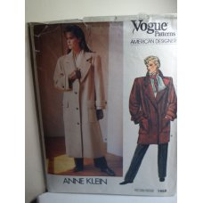 VOGUE Anne Klein Sewing Pattern 1458