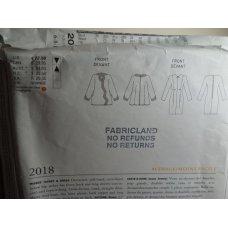 VOGUE Geoffrey Beene Sewing Pattern 2018