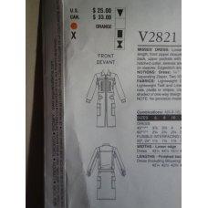 VOGUE Guy Laroche Sewing Pattern 2821