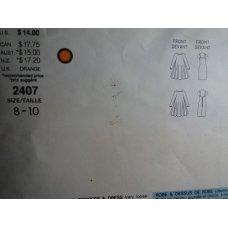 Vogue Karl Lagerfeld Sewing Pattern 2407