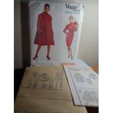 VOGUE Oscar De La Renta Sewing Pattern 2186