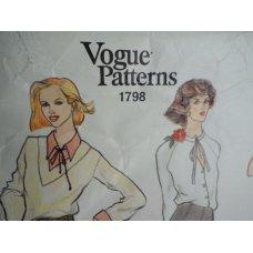 Vogue Sewing Pattern 1798