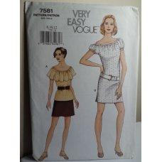 Vogue Sewing Pattern 7581